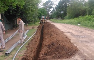 Obras para el abastecimiento de agua potable en Taruca Pampa