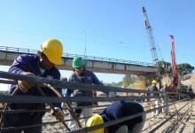 Avanzan las obras del puente sobre el río Lules