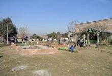 Avanza la construccion de una nueva plaza en Francisco de Aguirre y Paso de los Andes
