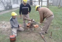 Trabajos de mantenimiento en posos de agua por parte del SePAPyS
