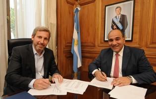 Manzur y Frigerio firmaron el acuerdo por la coparticipación federal