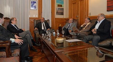 El Gobernador recibió al titular del Banco Nación
