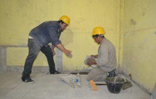 Construcciones Escolares   Trabajos en la Esc. N° 257 de Famailla