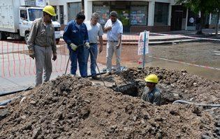 SAT   Avanza la renovación de la red de agua potable en Villa 9 de Julio