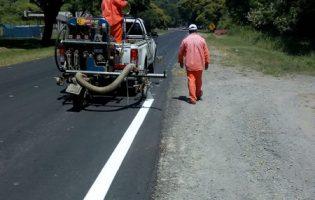 DPV   Trabajos de señalizacion sobre Ruta Provincial 338