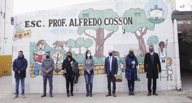 Construcciones Escolares | Realizan tareas de aprestamiento en la Escuela Alfredo Cossón